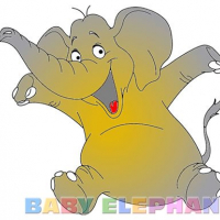 Friv Baby Elephant Coloring Online