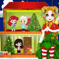 Friv Christmas Puppet Princess House Online