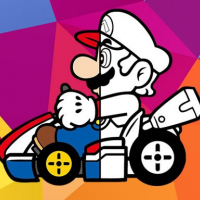 Friv Mario Driving Coloring Book Online