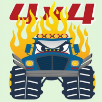 Friv Monster Trucks Coloring Pages Online