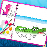 Friv Sea Creatures Coloring Book Online