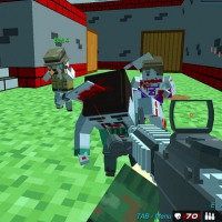Friv Shooting Zombie Blocky Gun Warfare Online