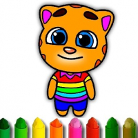 Friv Talking Tom Coloring Book Online