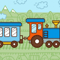 Friv Trains For Kids Coloring Online