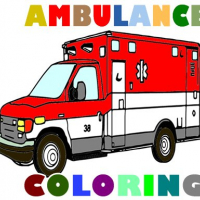 Friv Ambulance Trucks Coloring Pages Online