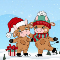 Friv Cute Christmas Bull Difference Online