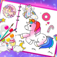 Friv Fabulous Cute Unicorn Coloring Book Online