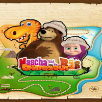 Friv Masha and The Bear dinosaur Online