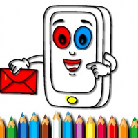Mobile Phone Coloring Book