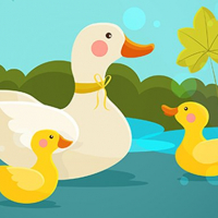 Friv Mother Duck and Ducklings Jigsaw Online
